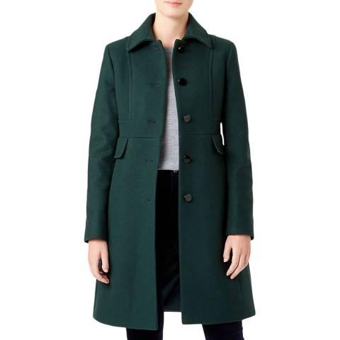 Hobbs London Green Eris Wool Blend Coat