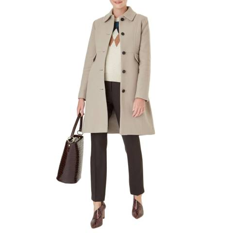 Hobbs London Beige Eris Wool Blend Coat