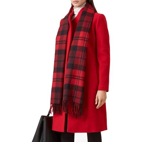 Hobbs London Deep Red Romy Wool Blend Coat