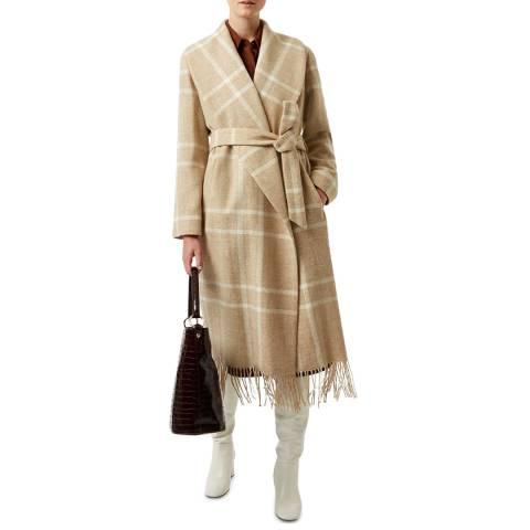 Hobbs London Beige Rosa Wool Coat