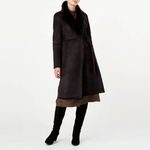 Hobbs London Black Viola Coat