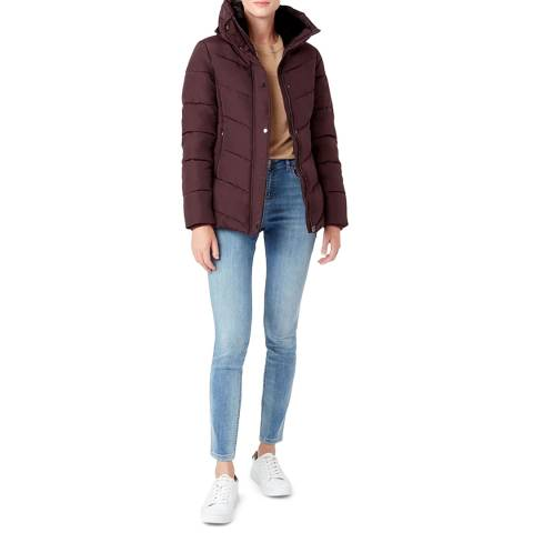 Hobbs London Purple Leonie Puffer Coat