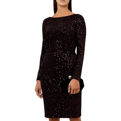 Hobbs London Black Sawyer Sequin Dress