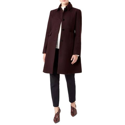 Hobbs London Purple Evalina Coat