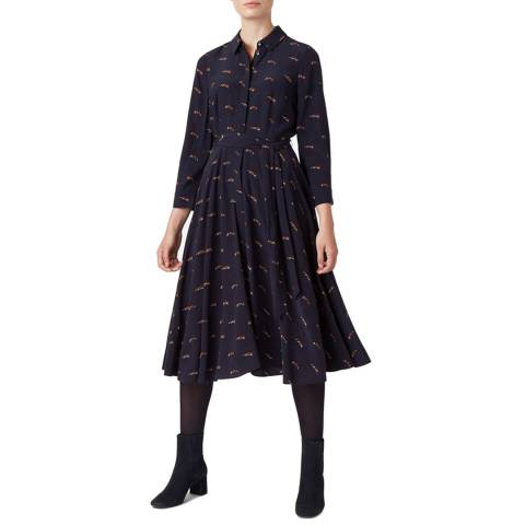 Hobbs London Navy Lainey Dress