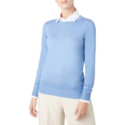 Hobbs London Blue Penny Wool Jumper