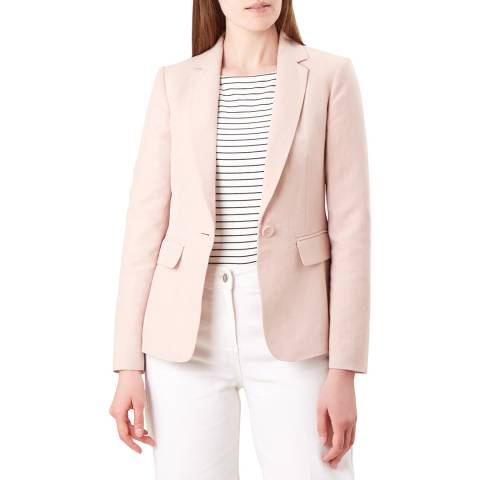 Hobbs London Pink Silk Blend Jacket