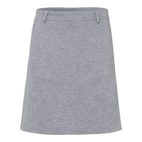 GOLFINO Grey Knit Melange Skort