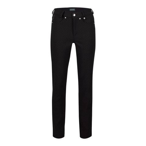 GOLFINO Black Printed Trousers