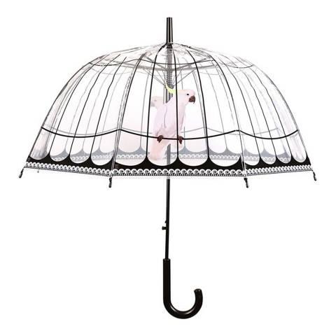 Le Monde du Parapluie Transparent / Black Birdcage Umbrella