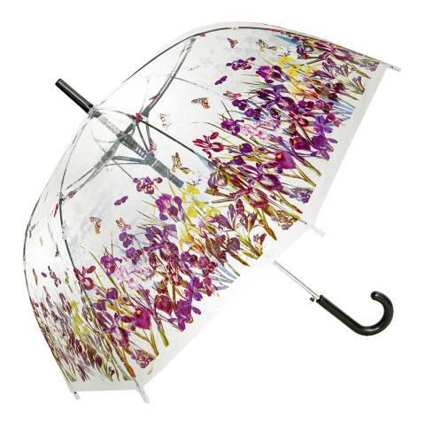 Blooms of London Transparent / Multi Coloured Iris Birdcage Umbrella