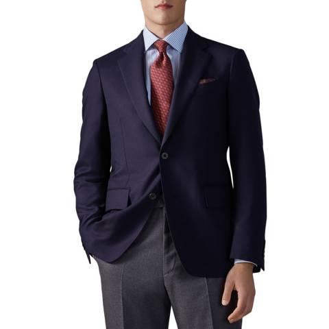 Thomas Pink Navy Super 110S Wool Stretch Blazer