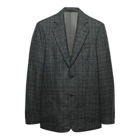 Thomas Pink Grey Textured Wool Blazer
