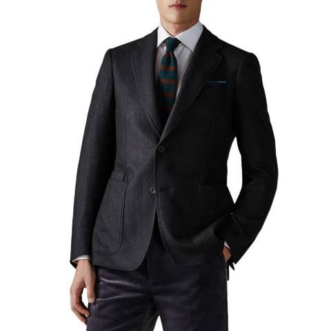 Thomas Pink Grey Wool/Silk Blazer