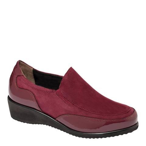Scholl Burgundy Suede Madina Slip On Shoe