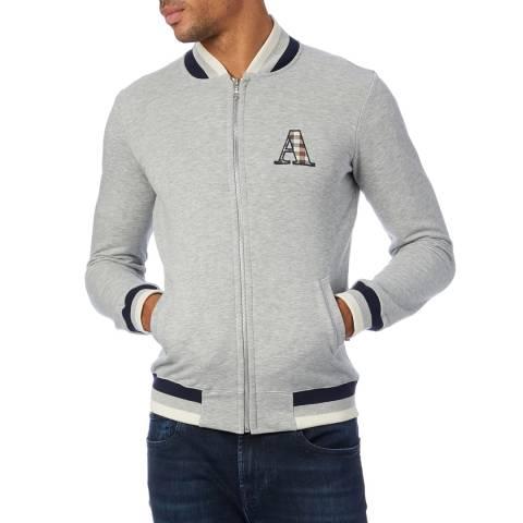 Aquascutum Grey Jersey Bomber Jacket