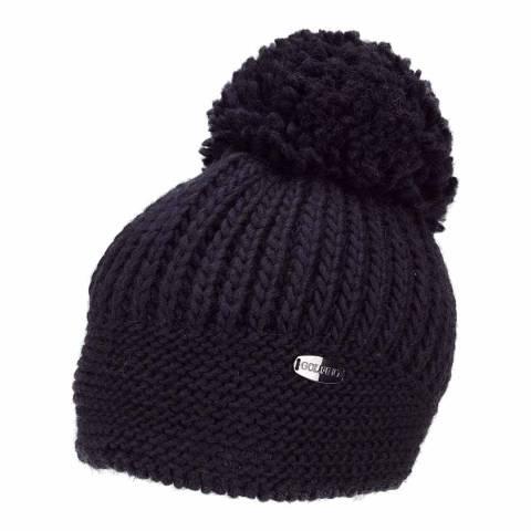 GOLFINO Navy Knitted Hat with Pompom