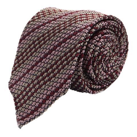 Thomas Pink Pink Red Multi Stripe Grenadine Tie