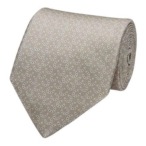 Thomas Pink Neutral Horseshoe Printed Tie