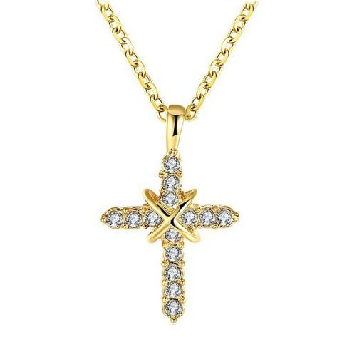 Ma Petite Amie Gold Plated Cross Necklace