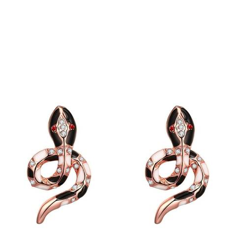 Ma Petite Amie Rose Gold Plated Patterned Snake Earrings
