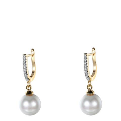 Ma Petite Amie Gold Plated Pearl Drop Earrings