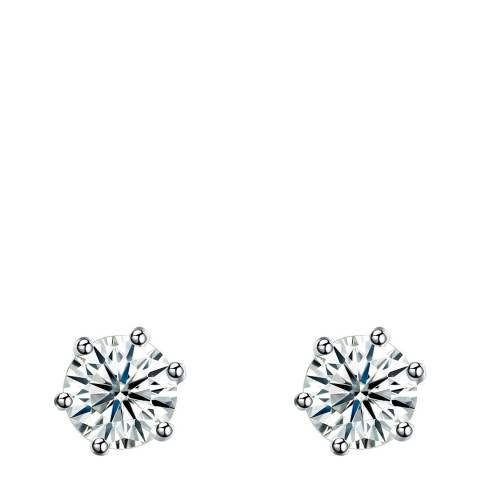 Ma Petite Amie Silver Plated Stud Earrings