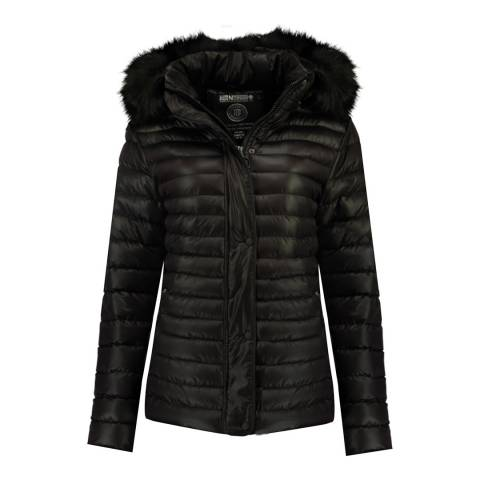 Geographical Norway Black Darmon Quilted Jacket