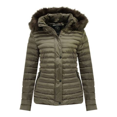 Geographical Norway Taupe Darmon Quilted Jacket