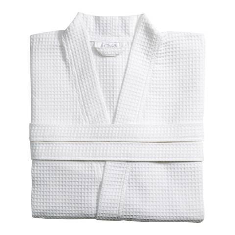 Christy Waffle Large Kimono Robe, White