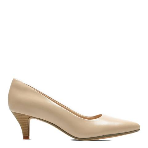Clarks Blush Leather Linvale Jerica Court Shoes