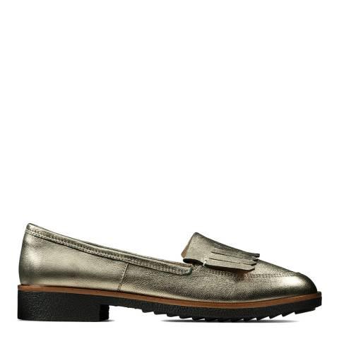 Clarks Bronze Metallic Griffin Kilt Loafers
