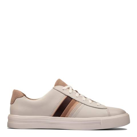 Clarks White Leather Un Maui Band Trainers