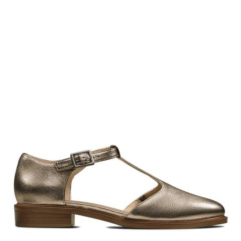 Clarks Bronze Metallic Leather Taylor Palm Shoes