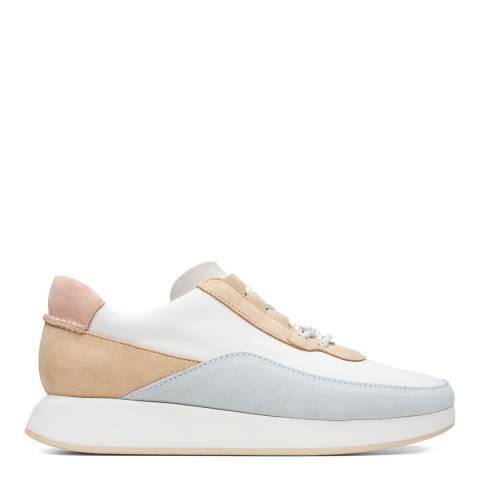 Clarks Originals White Multi Kiowa Pace Sneakers