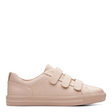 Clarks Blush Leather Un Maui Strap Trainers