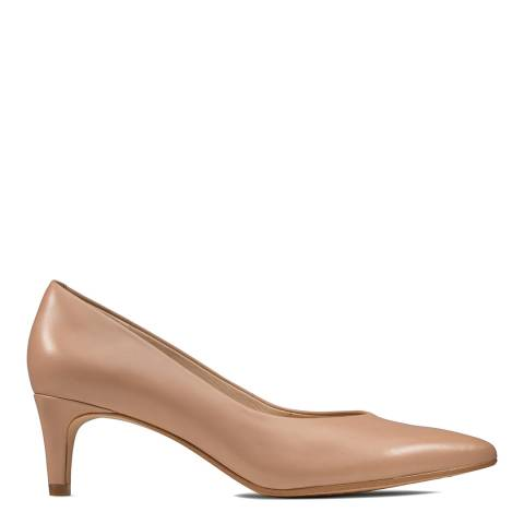 Clarks Nude Leather Court Shoe