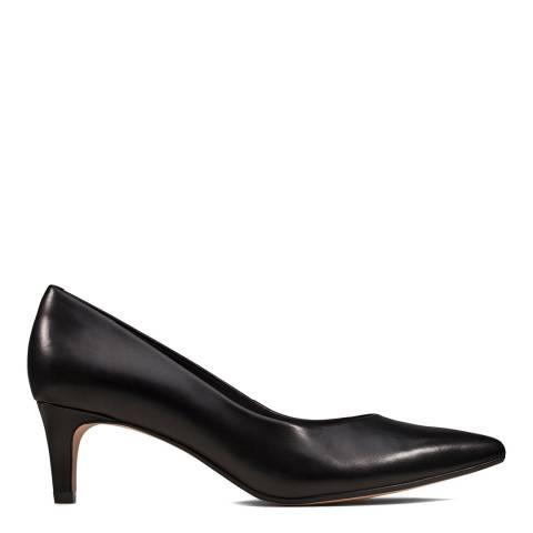 Clarks Black Leather Laina 55 Court Shoes