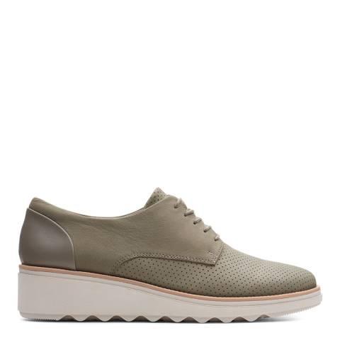 Clarks Khaki Nubuck Sharon Crystal Shoes