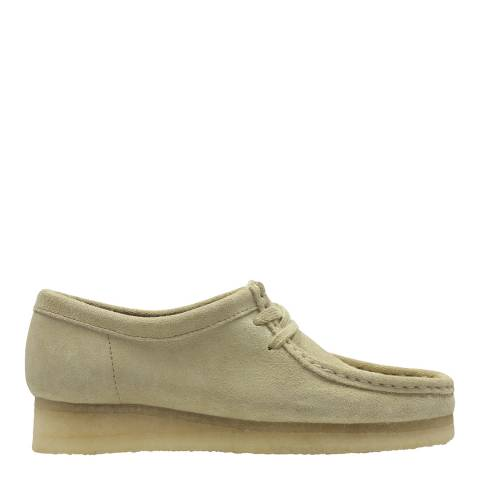 Clarks Originals Cream Wallabee Moccasin Shoes
