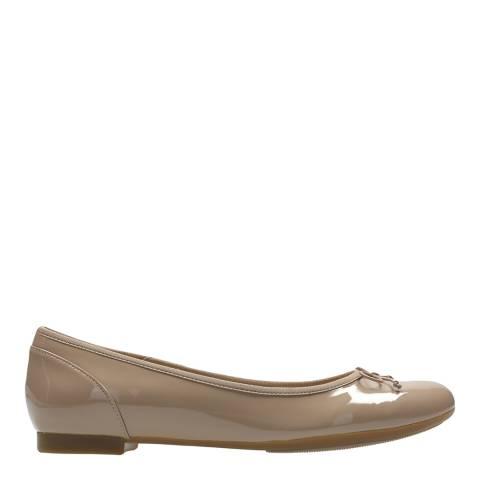 Clarks Blush Patent Couture Bloom Ballet Pumps
