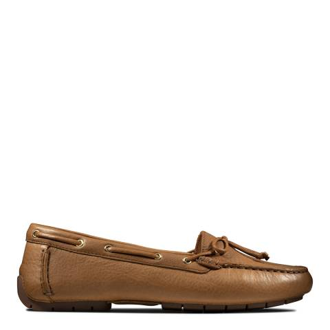 Clarks Tan Leather C Moccasin Boat Shoes
