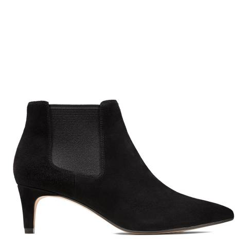 Clarks Black Suede Laina 55 Ankle Boots