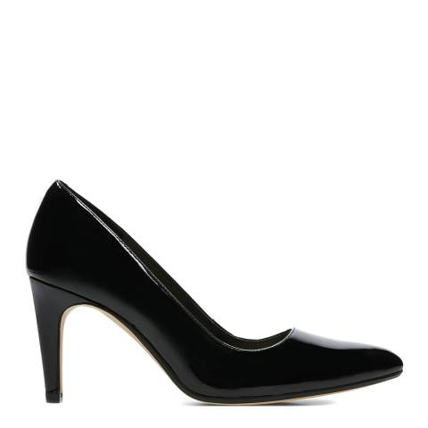 Clarks Black Patent Leather Laina Rae Court Shoes