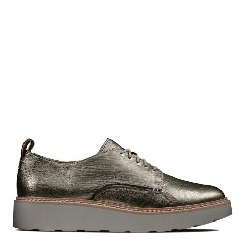 Clarks Bronze Metallic Trace Walk Derby Shoes