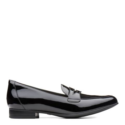Clarks Black Patent Leather Un Blush Go Loafers