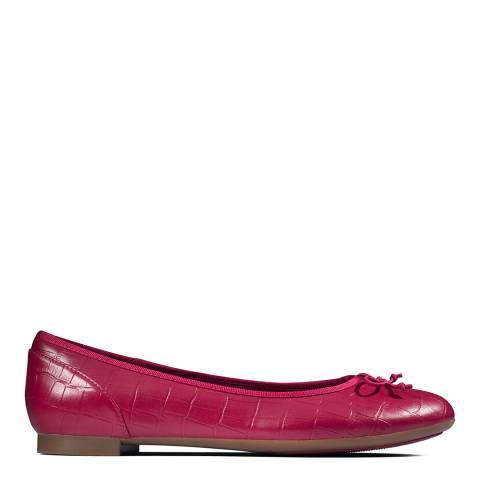 Clarks Fuchsia Croc Couture Bloom Ballet Pumps