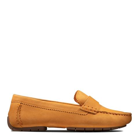 Clarks Yellow Suede CC Moccasin Shoes