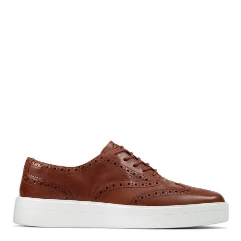 Clarks Tan Leather Hero Brogue Shoes
