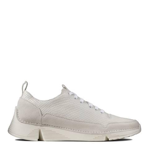 Clarks White Snake Tri Spark Sneakers